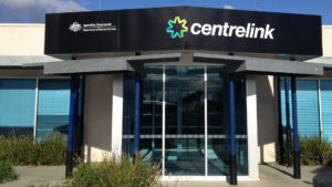 Centrelink service centre entrance