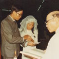 Cuc at her wedding