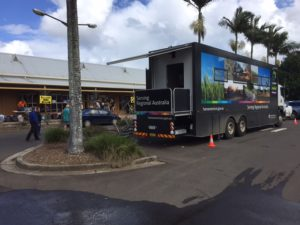 Mobile Service Centre outside Lismore Railway Station.