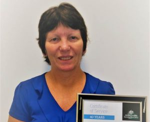 Woman with certificate