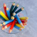 pencils in the glass