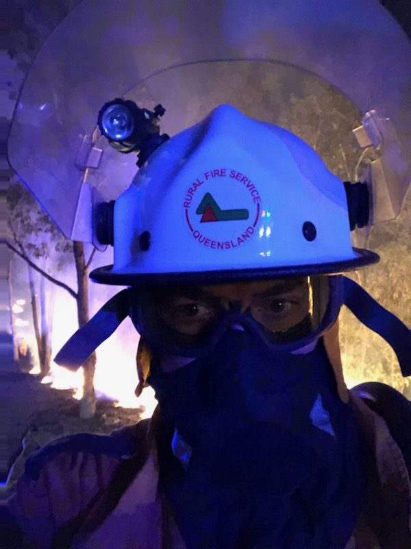 Firefighter in the mask