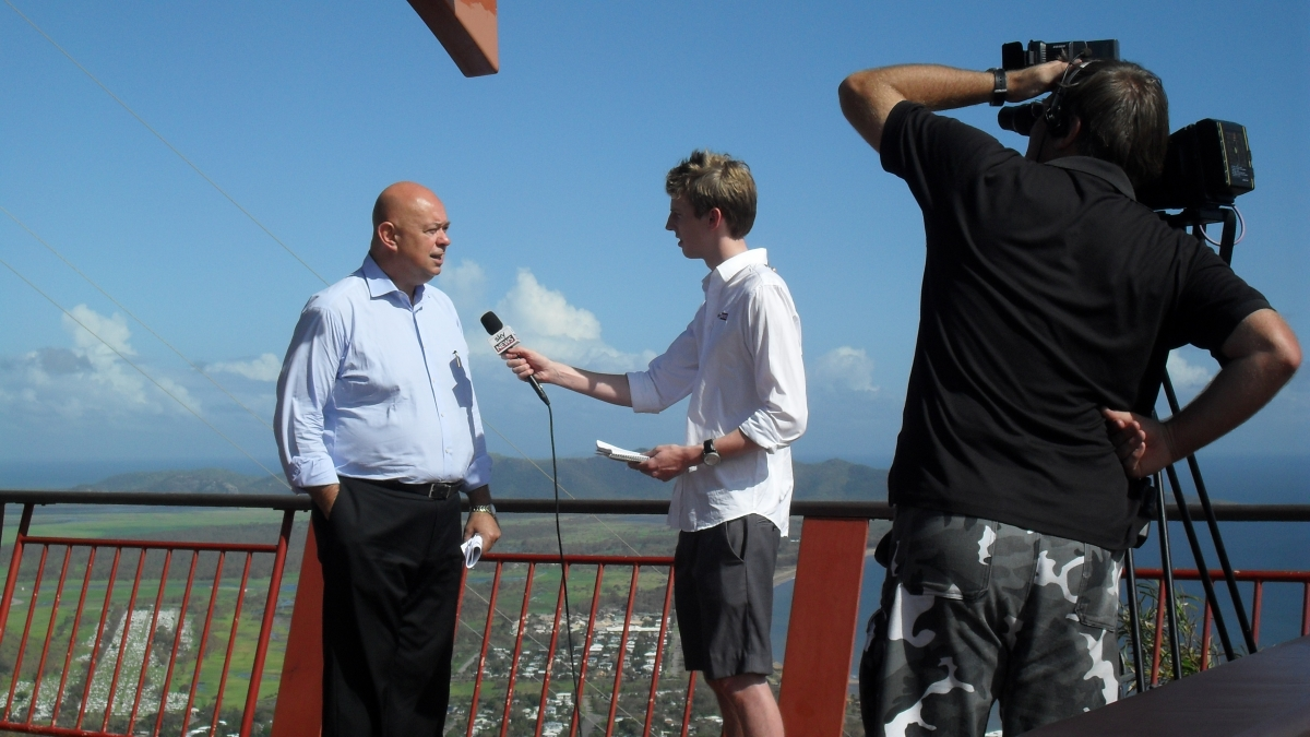NSky news Interview Townsville castle Hill2